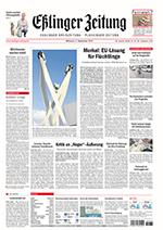 Esslinger Zeitung Titelseite